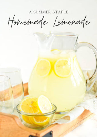 Summer Refreshing Homemade Lemonade Recipe