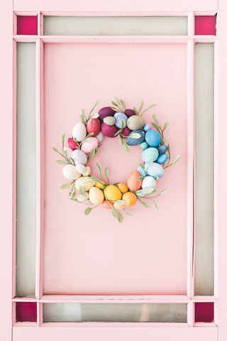 Modern Easter Wreath Idea
