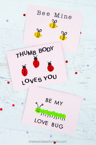 DIY Fingerprint Valentine's Day Cards