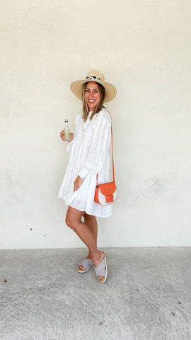 Backyard BBQ outfit ideas with white dresses