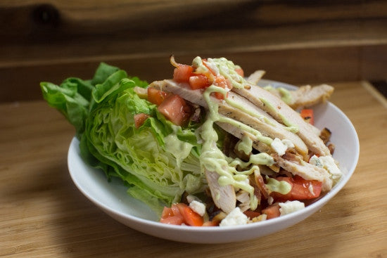 Chicken Wedge Salad with Green Goddess Dressing