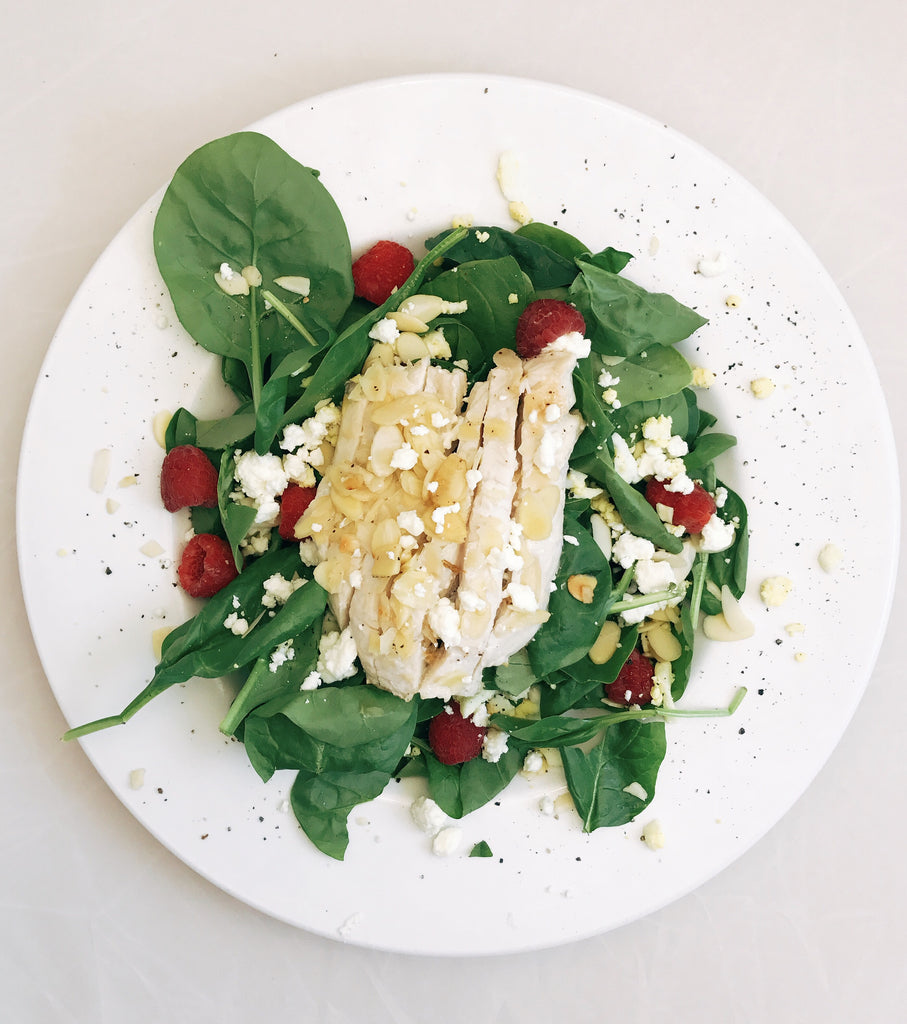Raspberry Chicken Salad with Toasted Almonds