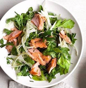 Teriyaki Glazed Salmon Salad