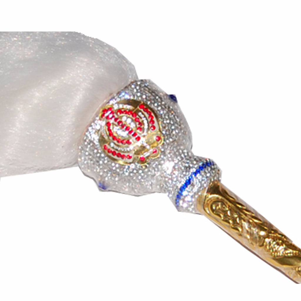 CH-SHB1305 Golden Handle Chaur Sahib with Beautiful Stones