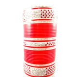 CHURA1302 Bridal Churra Red & Silver