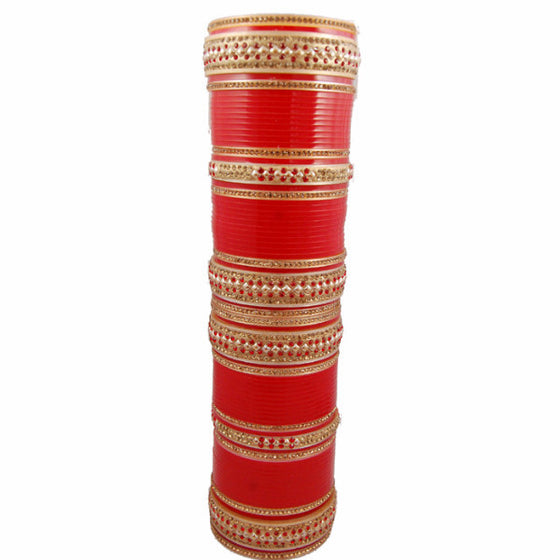 CHURA1306 Bridal Churra Red & Golden