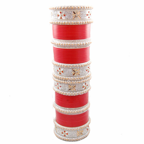 CHURA1309 Piper Stone Churra Red & Silver