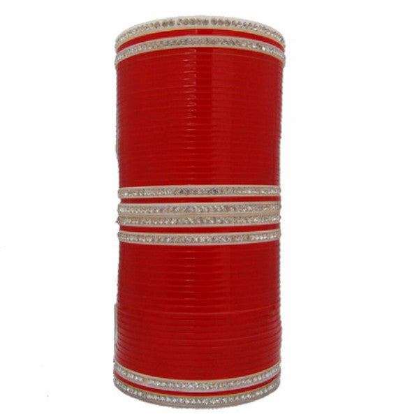 CHURA1315 Bridal Churra Red & White