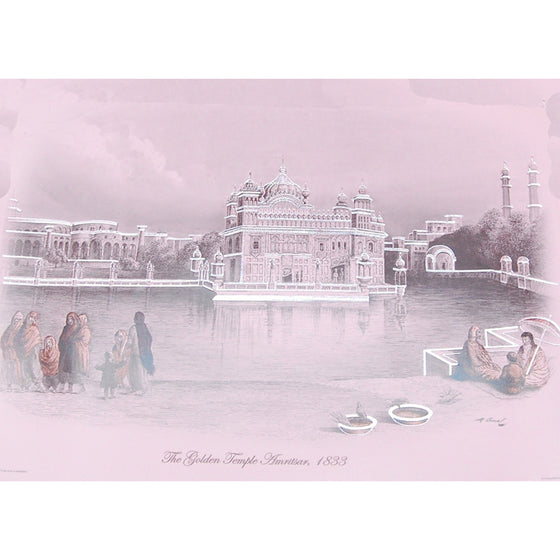 PSTR1312 Poster of old Harmandir Sahib