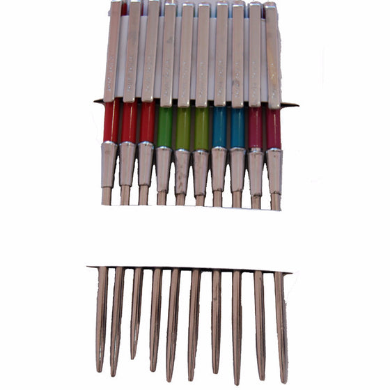 SAL1309 Pen Style Steel Baaz With Different Colors (10 Pcs Set)