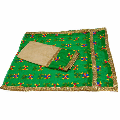 P-KARI1332 Phulkari Suit with Neck & Baaju