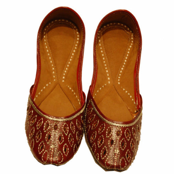 P-JUTI1339 Punjabi Jutti (Leather)