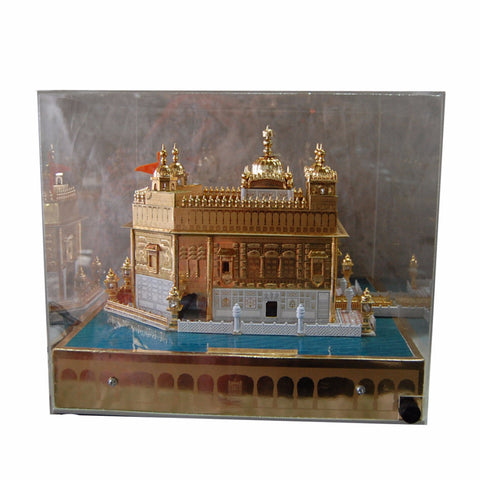 G-MDL1305 LED Lit-up Golden Temple's Model With Music System