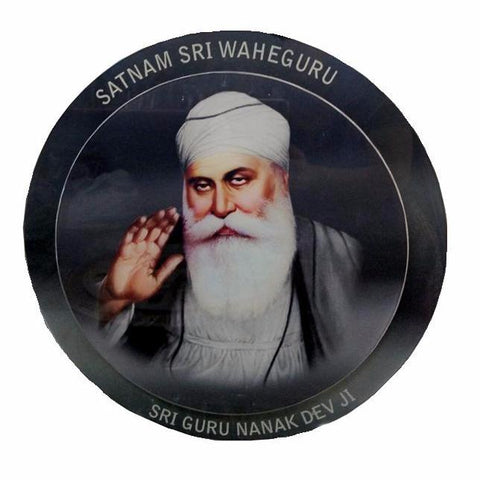 W/P1301 Round Shape Picture of Guru Nanak Dev ji