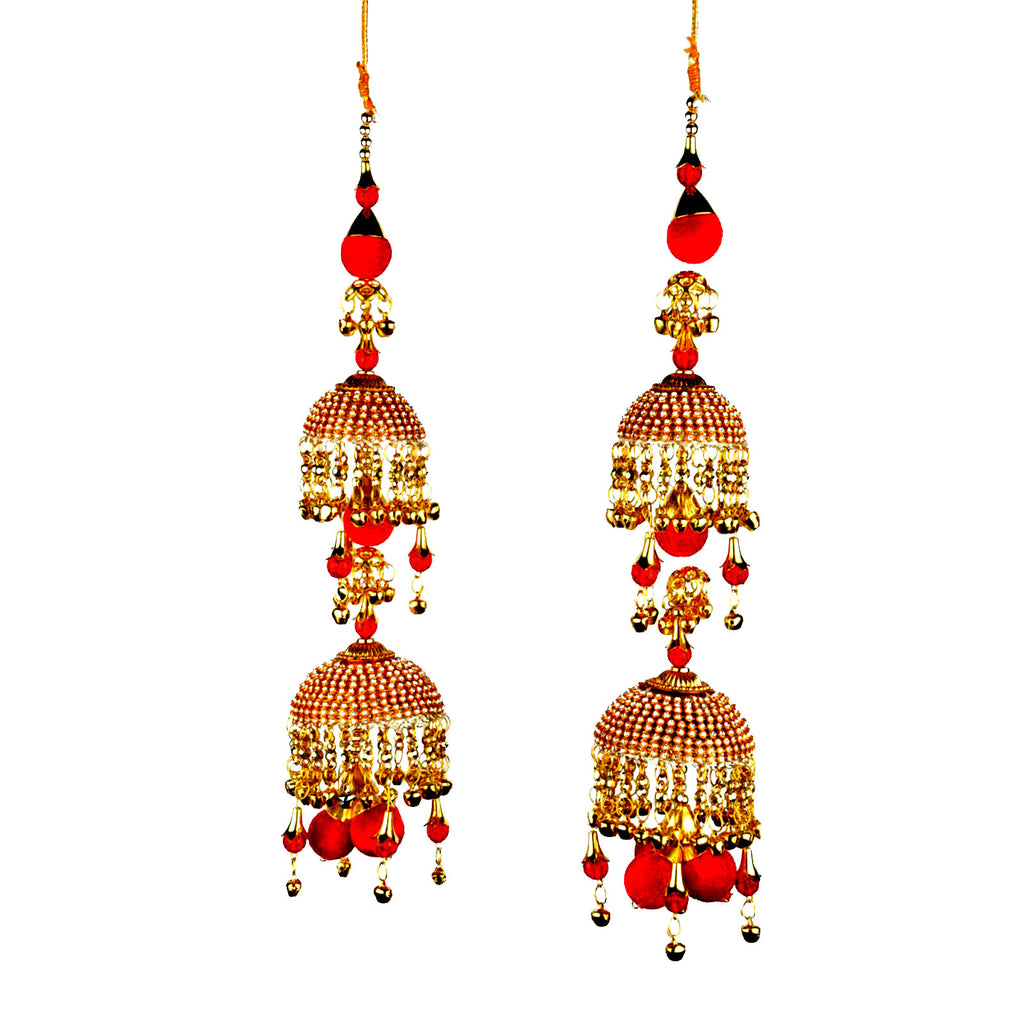 KLRA1313 Bridal Kalira Red & Golden  With Ghungru