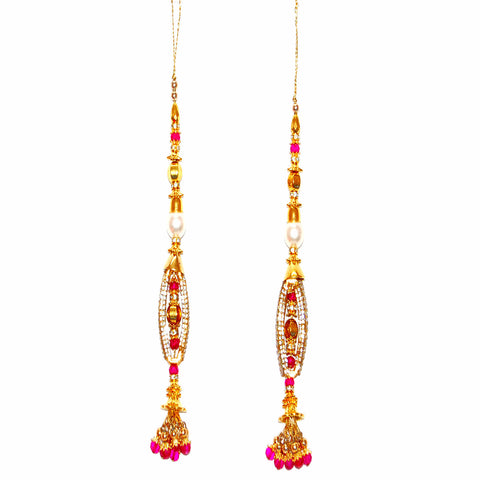 KLRA1319 Bridal Kalira with Stones