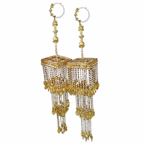 KLRA1322 Bridal Kalira Golden with pearls Beads