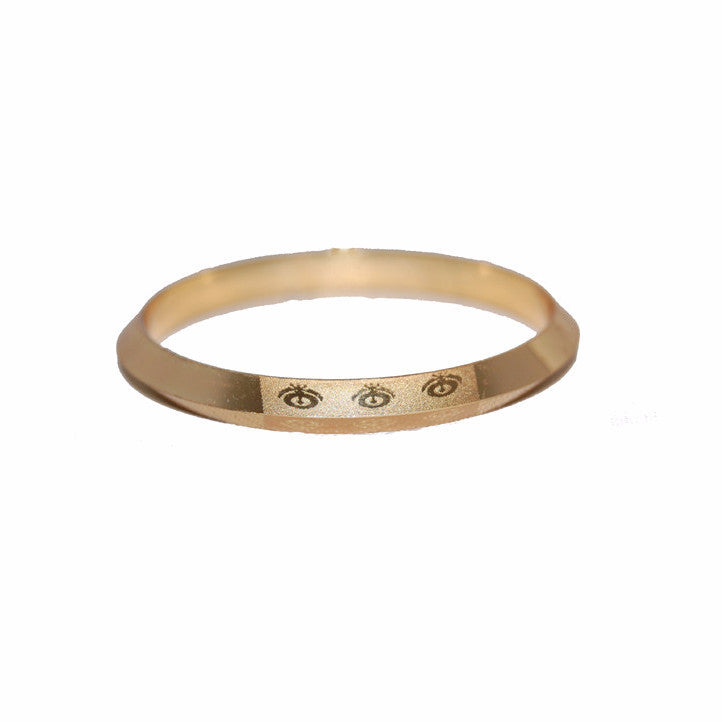 KRA1328 Designer Golden Kara with  small Khanda's (Kids)
