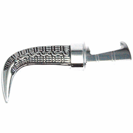 KRPN1304 - Engraved Pattern Steel Metal Kirpan