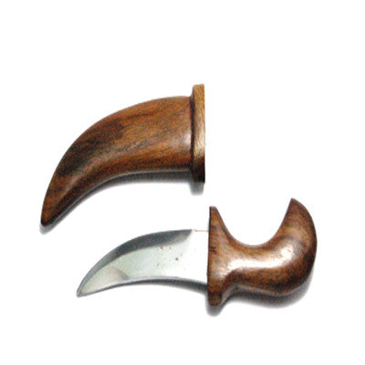 KRPN1334-Steel Metal Kirpan with wooden body