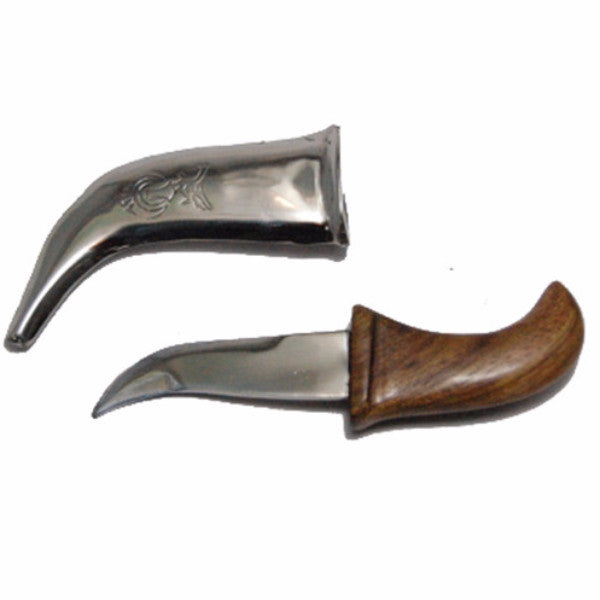 KRPN1354-Engraved Steel Metal Kirpan With Wooden Handle