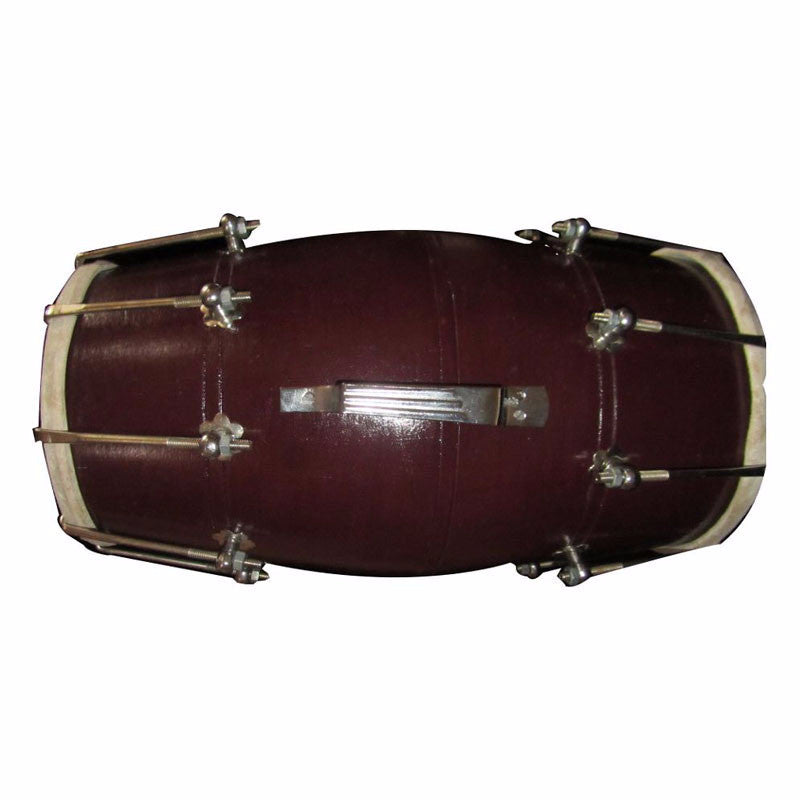 M-ISMT1316 Wooden Dholak (Brown)