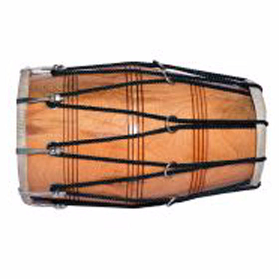 M-ISMT1317 Wooden Dholak with  (Adjustable Dori)