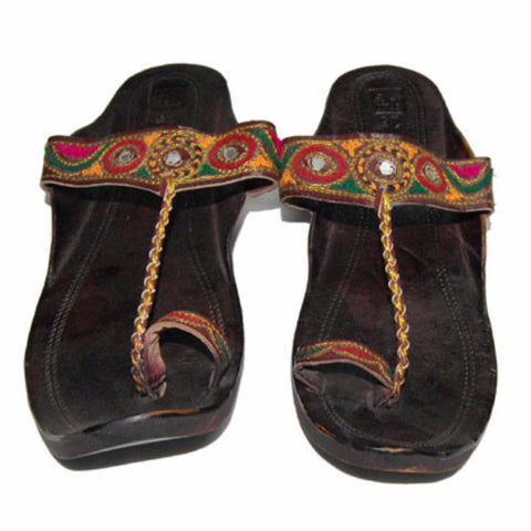 P-JUTI1324 Punjabi Sandal with Mirror