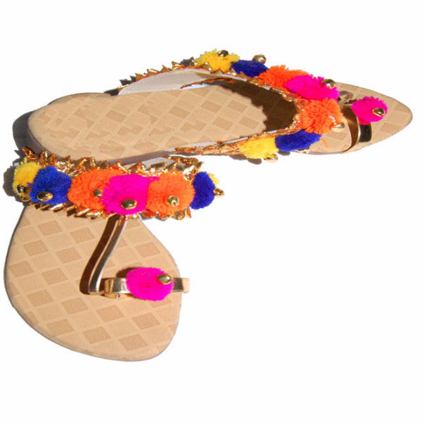 P-JUTI1325 Punjabi Sandel with Multi color Strap