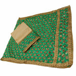P-KARI1335 Phulkari Suit with Neck & Baaju