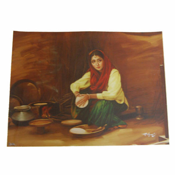 PSTR1308 Traditional Poster (Making Chapati)