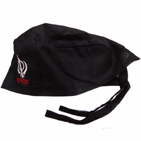 T-BND1304 Plain Bandana with Embroidery Khanda