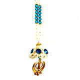 R-CAR1303 Pearl Beads Khanda Car Hanging