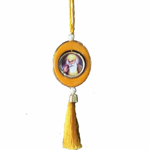 R-CAR1317 Rounded Guru Ji's Pic Car Hanging