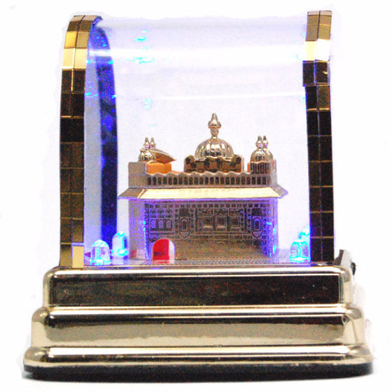 R-DSK1015 LED Lit-up Golden Temple's Model for Dashboard or Desk
