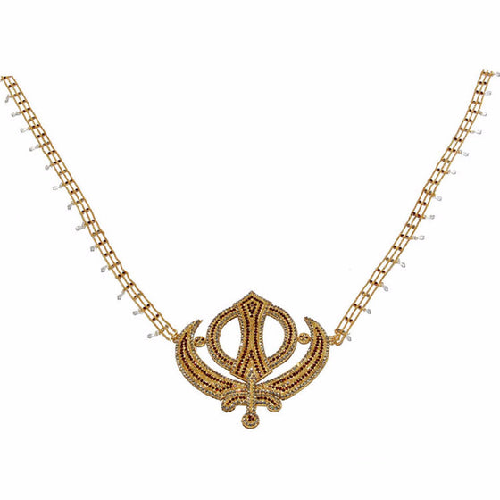 SHR1303 Khanda Style Sehra for Babaji's Room with colored stones