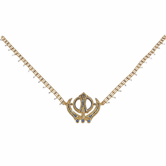 SHR1304 Khanda Style Sehra for Babaji's Room with colored stones
