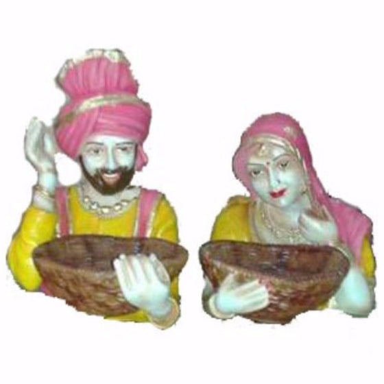 STCHU1304 Statue of Sardar & Sardarni with Tokri