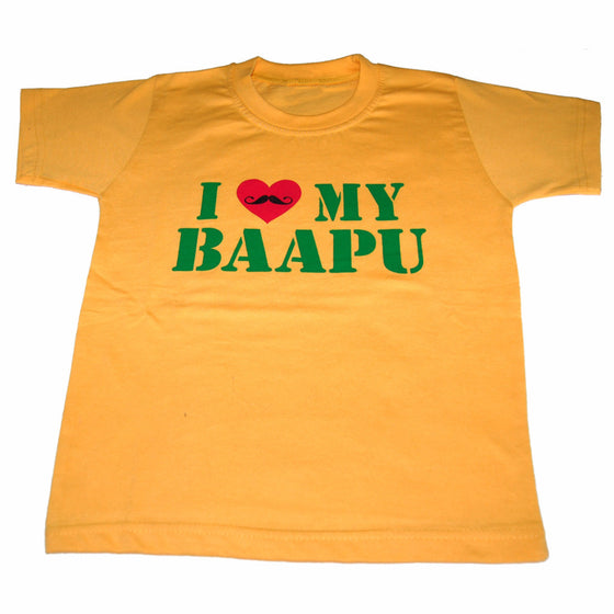 T-SHIRT1331  I Love My Bapu  (Kids).