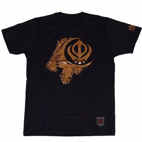 T-SHIRT1317 (KHANDA with LION)