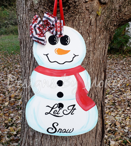 Snowman Winter Door Hanger