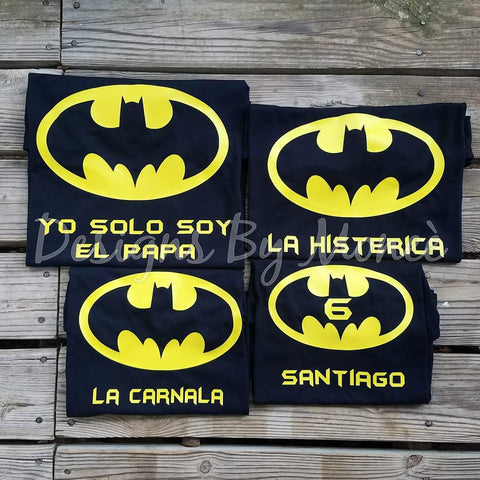 Batman Theme Birthday Shirts
