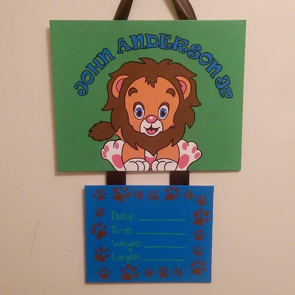 Lion Hospital Door Hanger