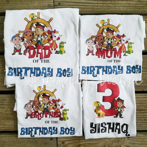 Jake and the Neverland Pirates Birthday Shirts