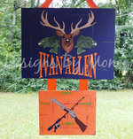 Hunting and Fishing Hospital Door Hanger