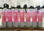 Bridal Party Glitter Bottom Skinny Tumbler
