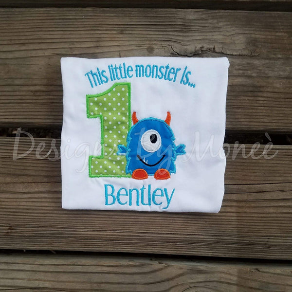 ThisLittle Monster Birthday Shirt