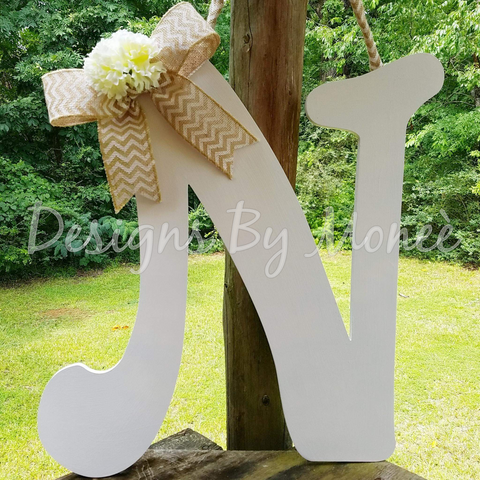 White Letter Door Hanger