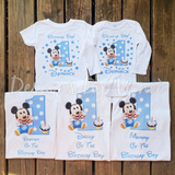 Baby Mickey Mouse Family Birthday Shirts