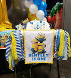 Minions Highchair Fabric Birthday Banner